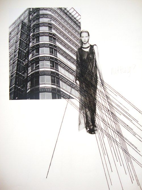 Fashion Sketchbook exploring architecture within fashion - fashion design development; fashion portfolio // Abbie Ridler