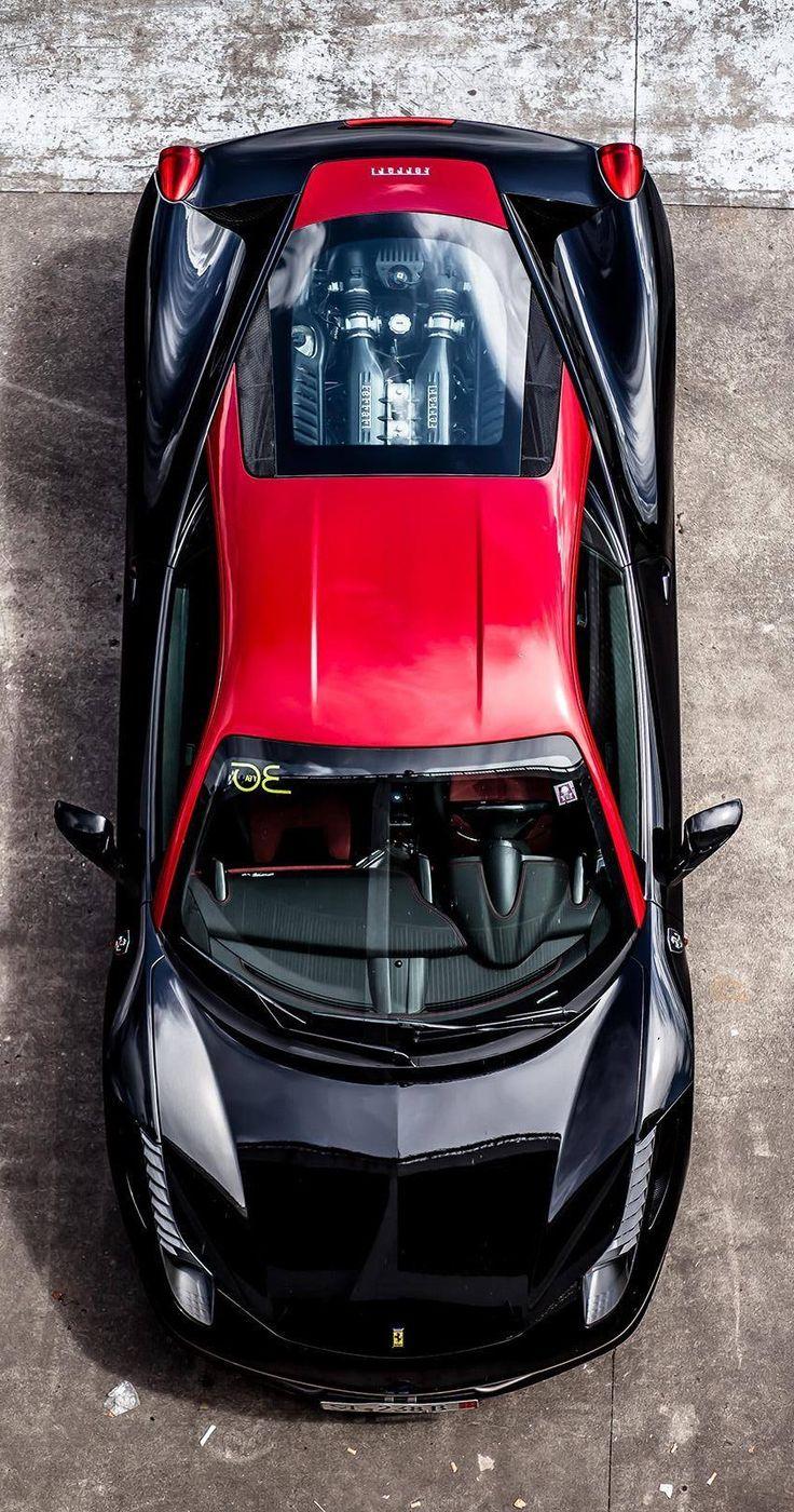 Fantastic Black and Red Ferrari 458