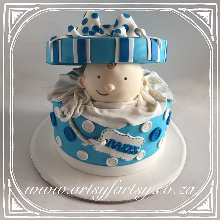 Baby in a Box Cake #babyinaboxcake
