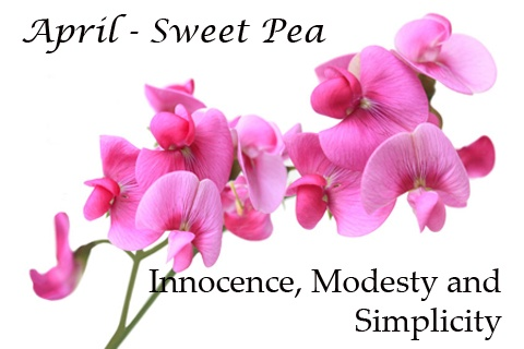April Birth-flower: Sweet Pea | My family Birth flowers ...