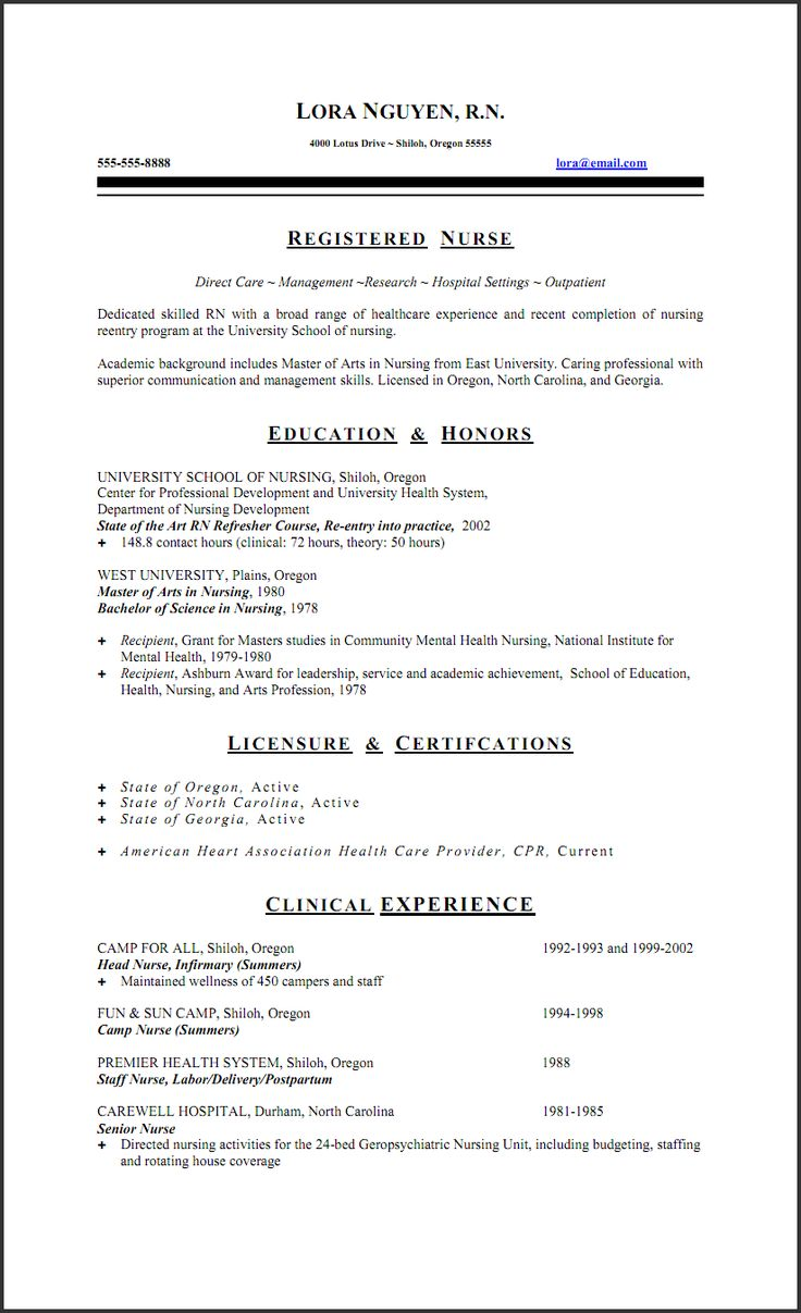 sample resume job description staff nurse george orwell setting registered occupational examples