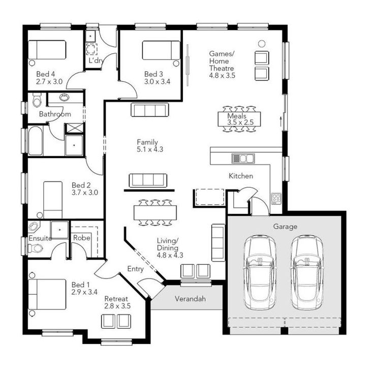 1294 best Houses images on Pinterest Home design Floor plans