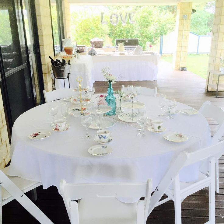 High Tea set up for Emma's Kitchen Tea by Little Vintage Hire Co.