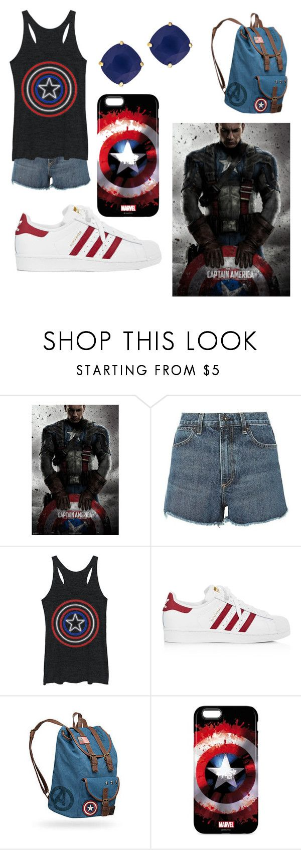 """""""Captain America"""" by asl26 on Polyvore featuring rag & bone, adidas and Kate Spade"""