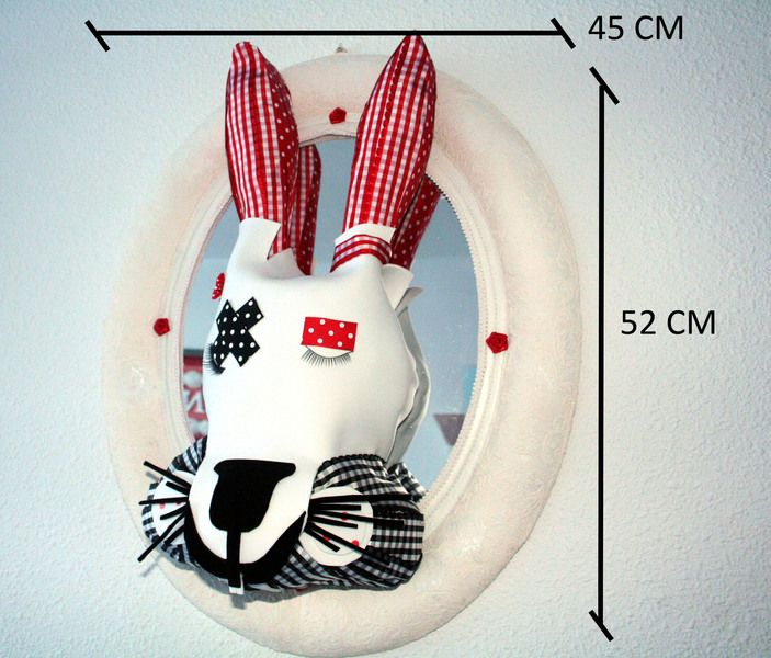 CABEZA CONEJO/ BUNNY HEAD de DOITFORNELE por DaWanda.com