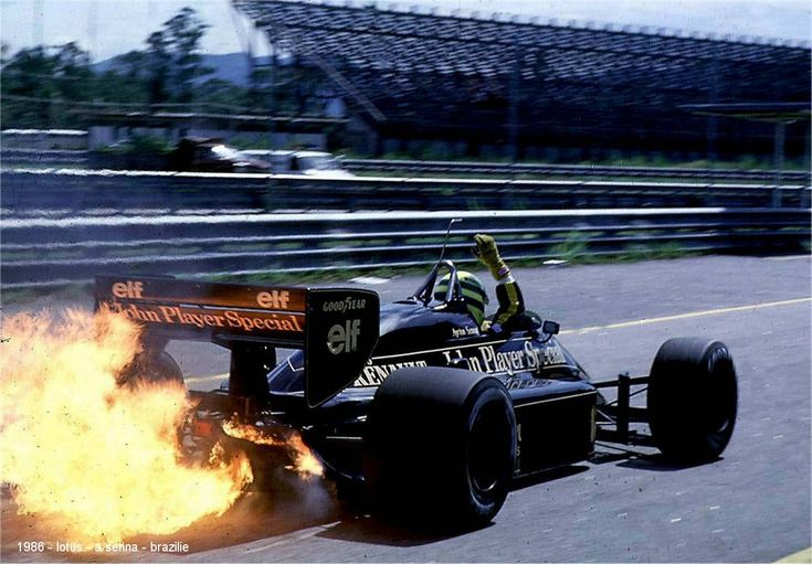 23 Mar 1986: Ayrton Senna of Brazil in action in his Lotus Renault during the Brazilian Grand Prix at the Rio circuit in Brazil. Senna finished in second place Lotus driver Ayrton Senna of Brazil in action during the F1 Belgian Grand Prix held on May 25, 1986 at the Spa-Francorchamps circuit in Belgium.