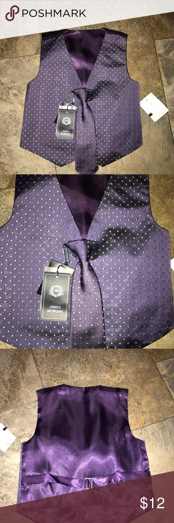 Infant Boys Vest And Tie 3T NWT  James morgan Infant Boys Vest And Tie 3T NWT  James morgan brand Shirts & Tops Blouses