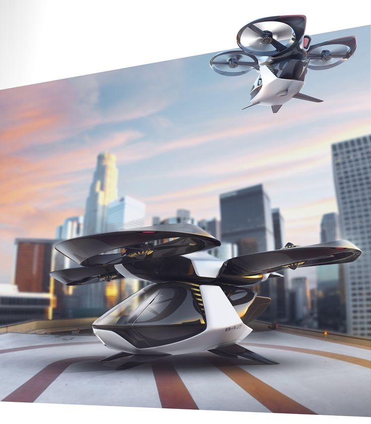 The combination of autonomous systems and multicopters made it possible to create an unmanned flying vehicle. The modular structure allows to use it for different applications. With a cabin it is an aerial taxi, with a container it is a cargo plane or it �