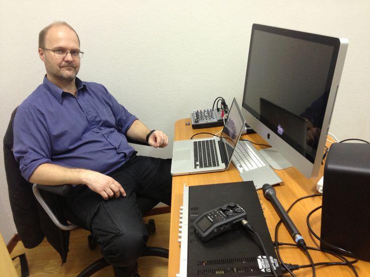 Linnanstudio where I'm producing DeiPark and Yöluotsi for Radio Dei.