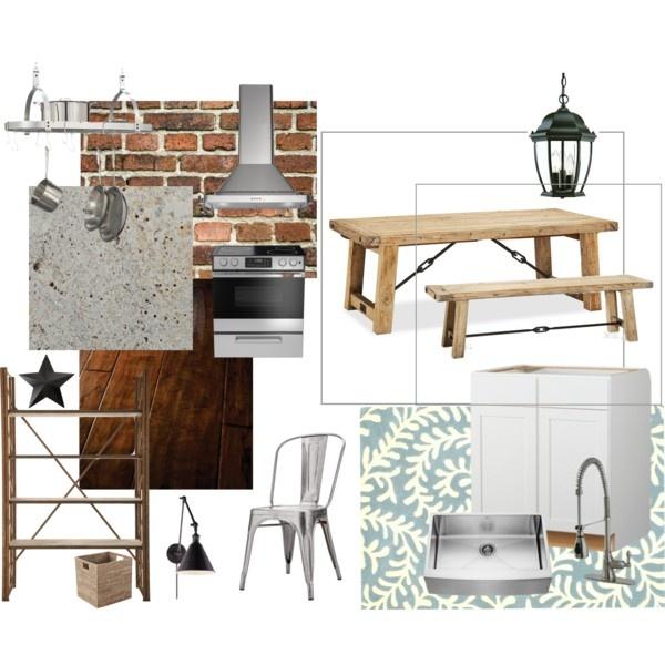 Industrial farmhouse kitchen industrial farmhouse for Kitchen set 4 x 3