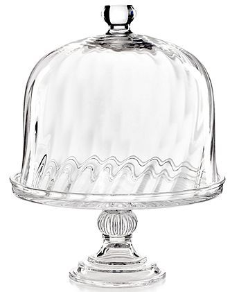 CLOSEOUT! Martha Stewart Collection Serveware, Swirl Cake Stand with Dome - Serveware - Dining & Entertaining - Macy's