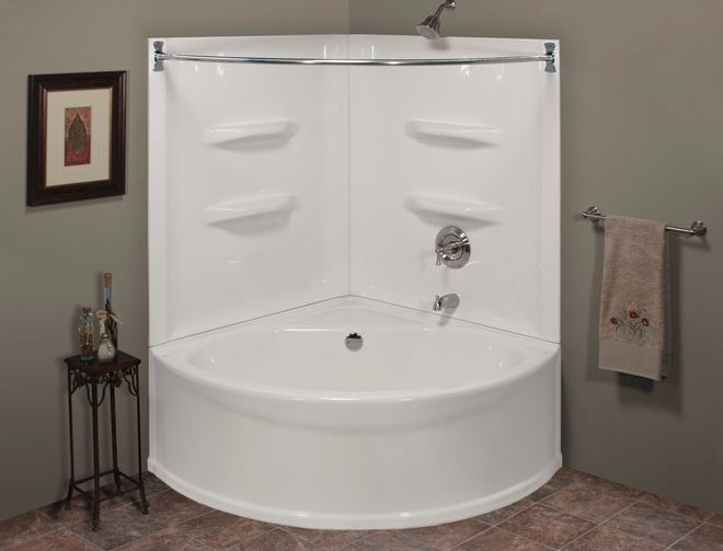 Lyons corner jet tub and shower combination lyons for Lyons whirlpool tub