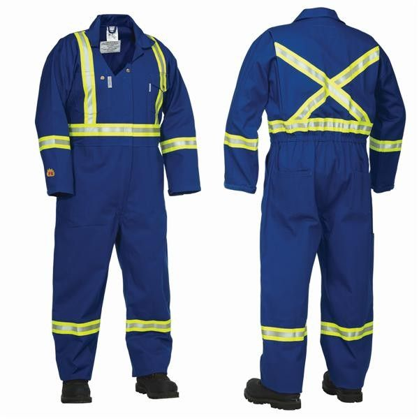 Buy online quality grade, durable and easy to handle range of Flame Resistant Treated Coverall at Linen Plus. All our product range include Two way breakaway zipper with storm flap and also come up with 2 front upper pockets, 2 back pockets and 2 front slash pockets with side access.