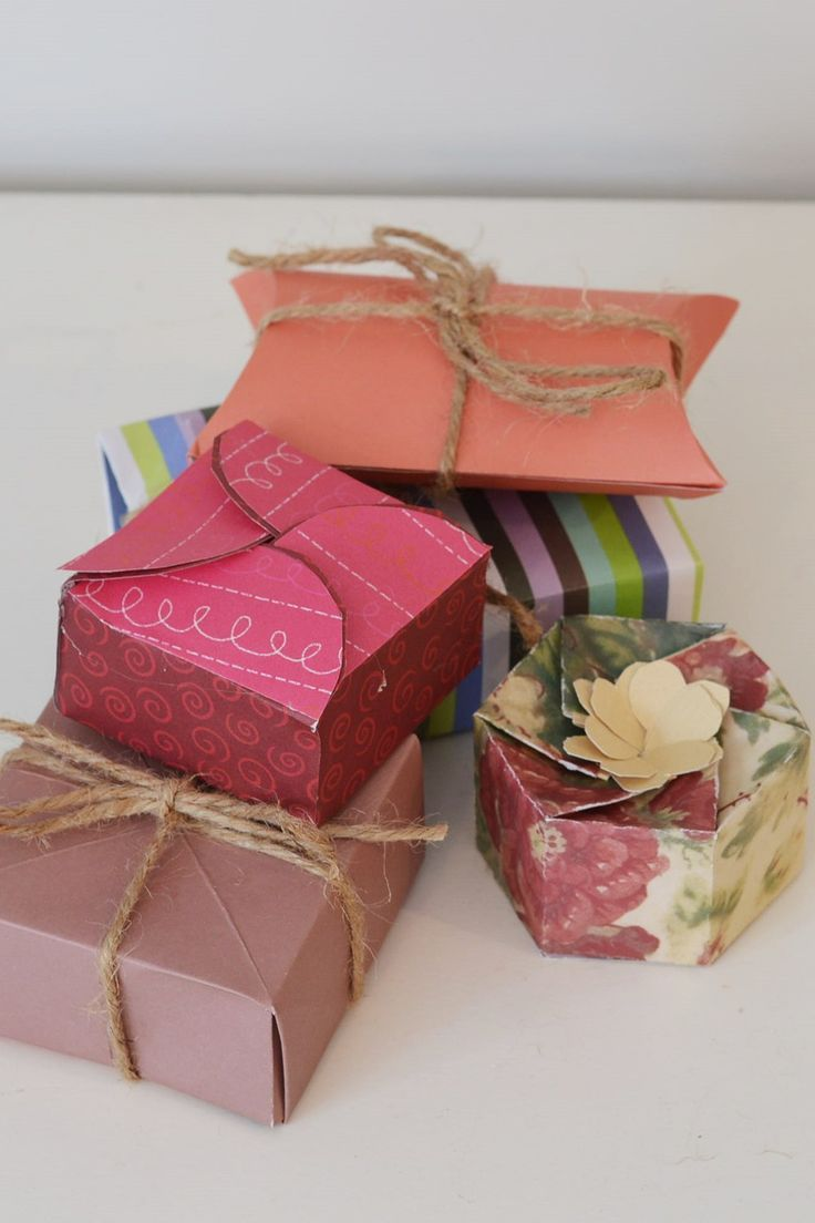 Handmade Paper Gift Boxes Crafts Diy Handmade Christmas Gifts