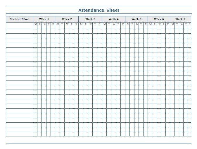 Attendance Sheet For Toddler Room Google Search Attendance