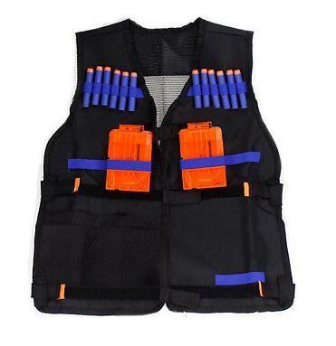 Tactical Vest Nerf Tactical Vest Jacket Waistcoat Magazine Ammo Holder For N-Strike Elite Pistol Bullets Toy Guns Clip Darts