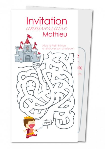 Invitation anniversaire enfant, carte invitation anniversaire fille et garcon │ Planet-Cards.com