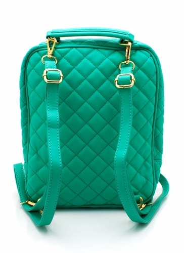 WANNA GET! quilted convertible backpack