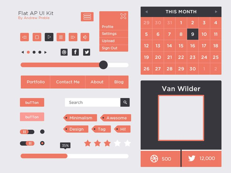 Flat AP UI Kit  |Freebie|