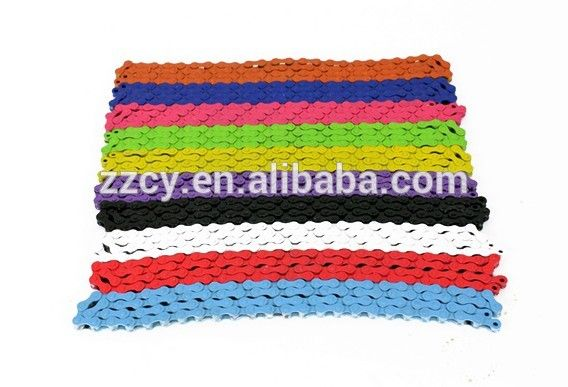 bicycle parts colorful fixed gear bicycle chain