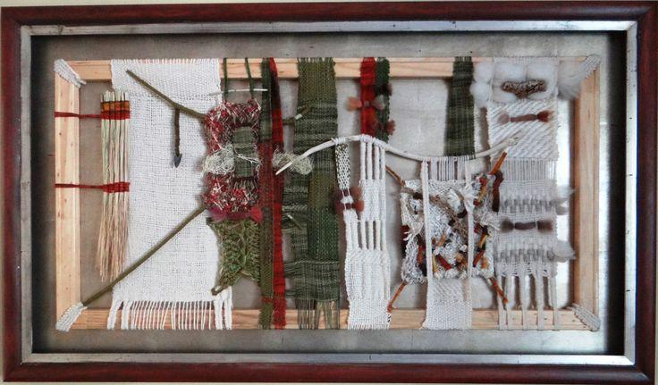 """""""Una historia de vida"""" Arte textil 83 x 1,41 cms"""