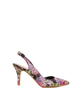 New Look Speak Multi Coloured Heeled Court Shoes