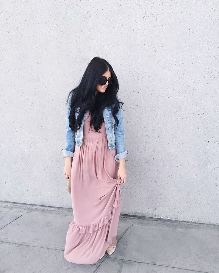 Pretty dress. I love things that pair readily with my denim jacket
