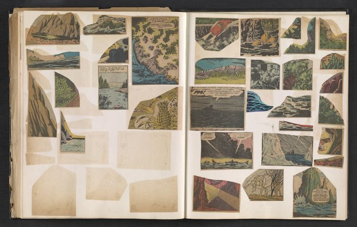 An Artist's Strangely Compelling 1960s Scrapbook of Comic Book Art