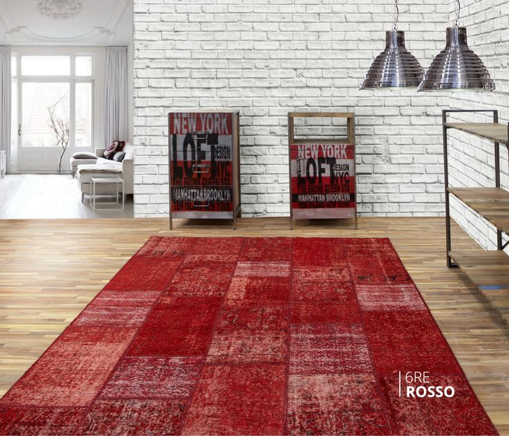 ALFOMBRA PATCHWORK 6RE ROSSO