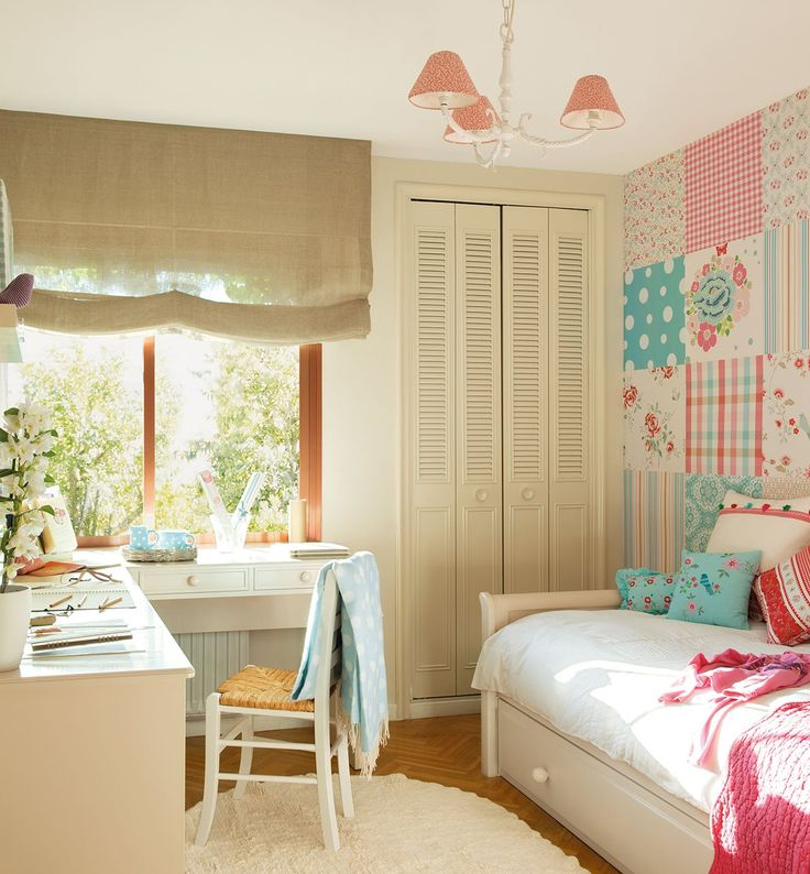 pink and turquoise girl's room