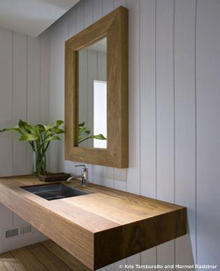 Elegant yet simple powder room design
