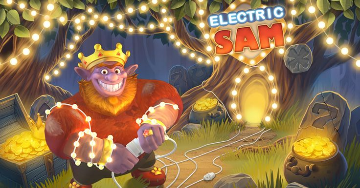 Electric Sam provides an interesting mix of modern and classic symbols, but the graphics are clearly in the camp of the former.