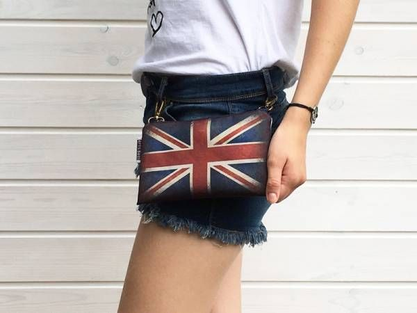 Handmade Canvas Crossbody and Belt Bag - UK Flag Design