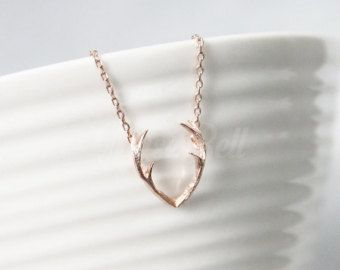 Asta collar collar del cuerno joyería del cuerno joyería | Etsy