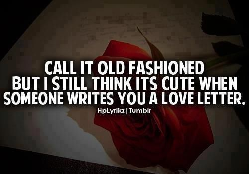 Why don't people do this anymore? It's the sweetest, romantic gesture...........