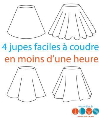 4 jupes faciles à coudre en moins d'une heure