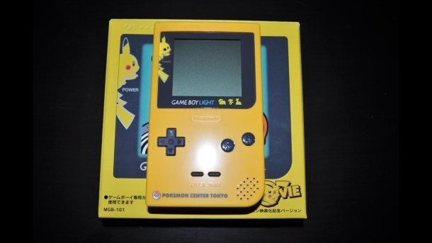 The Game Boy Light was only available in Japan and was slightly bigger than the Pocket edition, although it only required two AA batteries and had a longer battery life. Even rarer than that is the Pikachu Game Boy Light that was only available in Pokemon Centers.