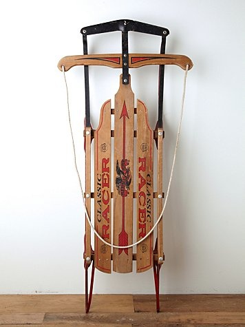 Vintage Classic Racer Wooden Sled