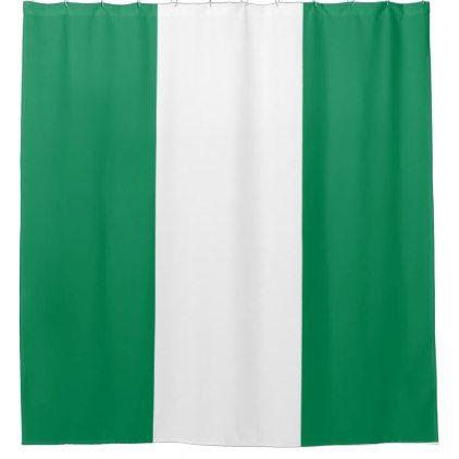 Nigeria Flag Shower Curtain - shower curtains home decor custom idea personalize bathroom
