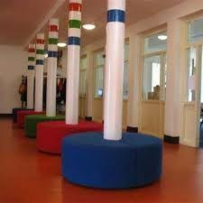 de banken in de aula van een school