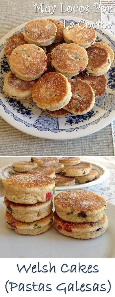 Welsh Cakes (Pastas galesas): Dulces típicos de la cocina de Gales. Un sabor a mantequilla delicioso y una textura crujiente por fuera y suave y esponjosa por dentro. Puedes encontrarlas en www.muylocosporlacocina.com.