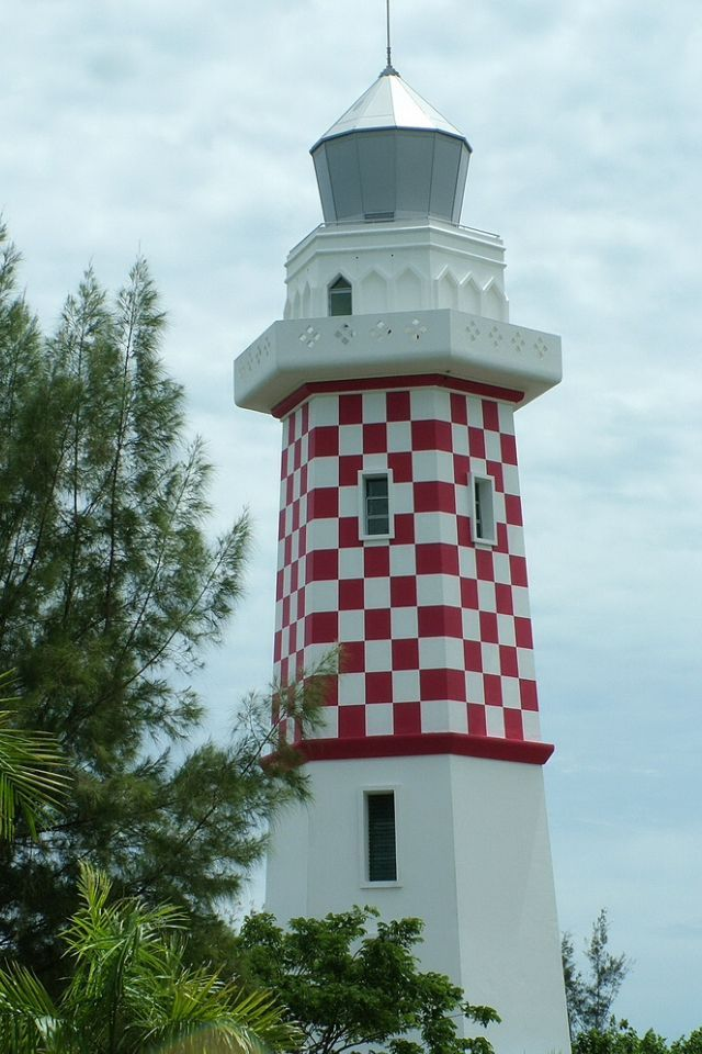 Lighthouse in Brunei  - a sovereign state located on the north coast of the island of Borneo in Southeast Asia.