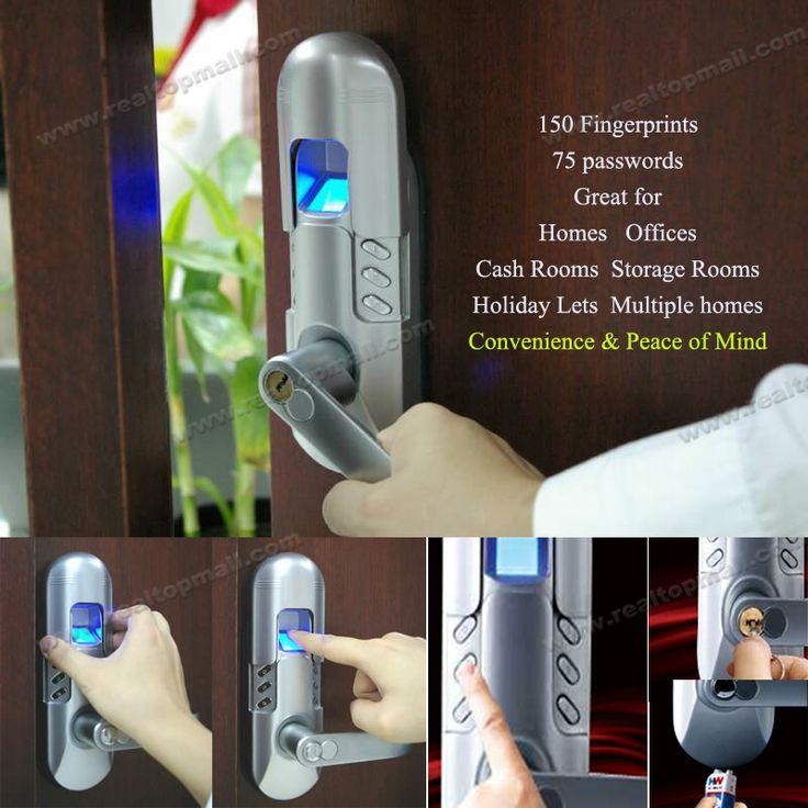 226.96$  Buy now - http://alilx7.worldwells.pw/go.php?t=1808922585 - Fashion Smart Single Latch Locks Biometric Finger Print Password Lock 226.96$