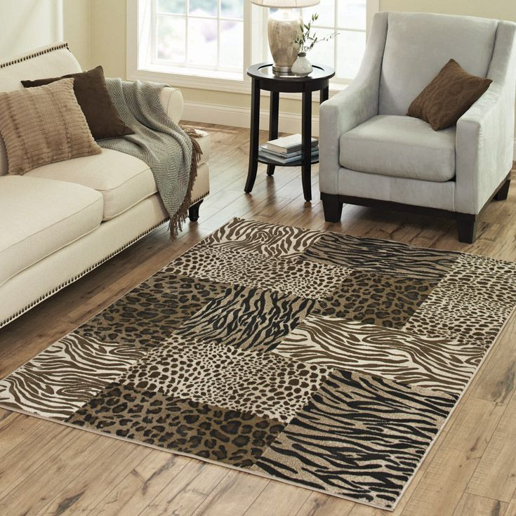 Better Homes And Gardens Animal Print Woven Polypropylene Rug 5 X 7