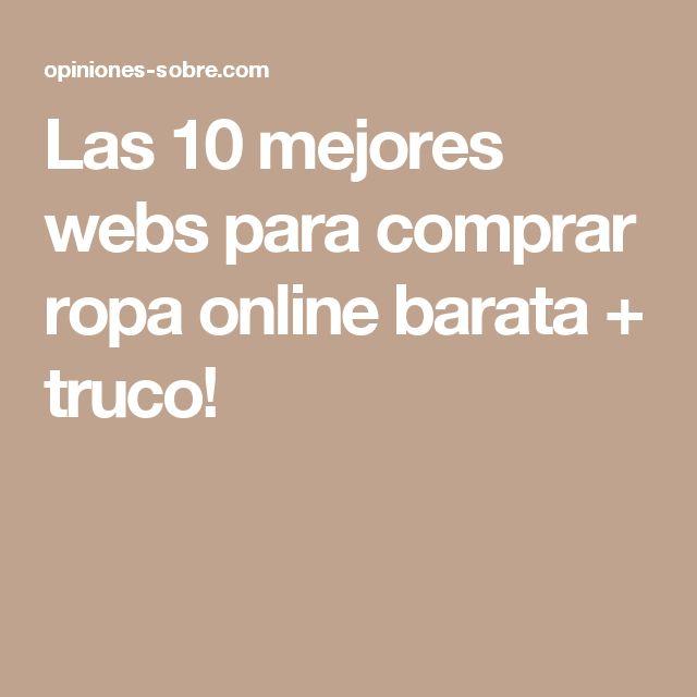 Las 10 mejores webs para comprar ropa online barata + truco!