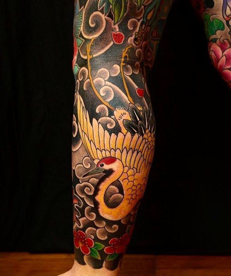 Afbeeldingsresultaat voor japanese leg tattoo