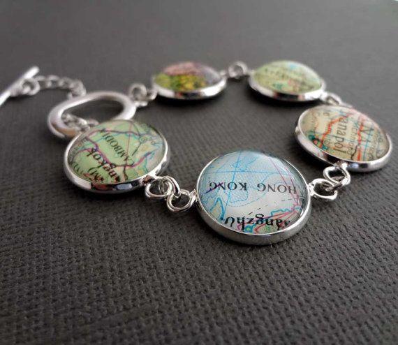 Gepersonaliseerde sieraden, Zilveren armband, aangepaste sieraden, bruid Gift, voorjaar huwelijksgeschenk