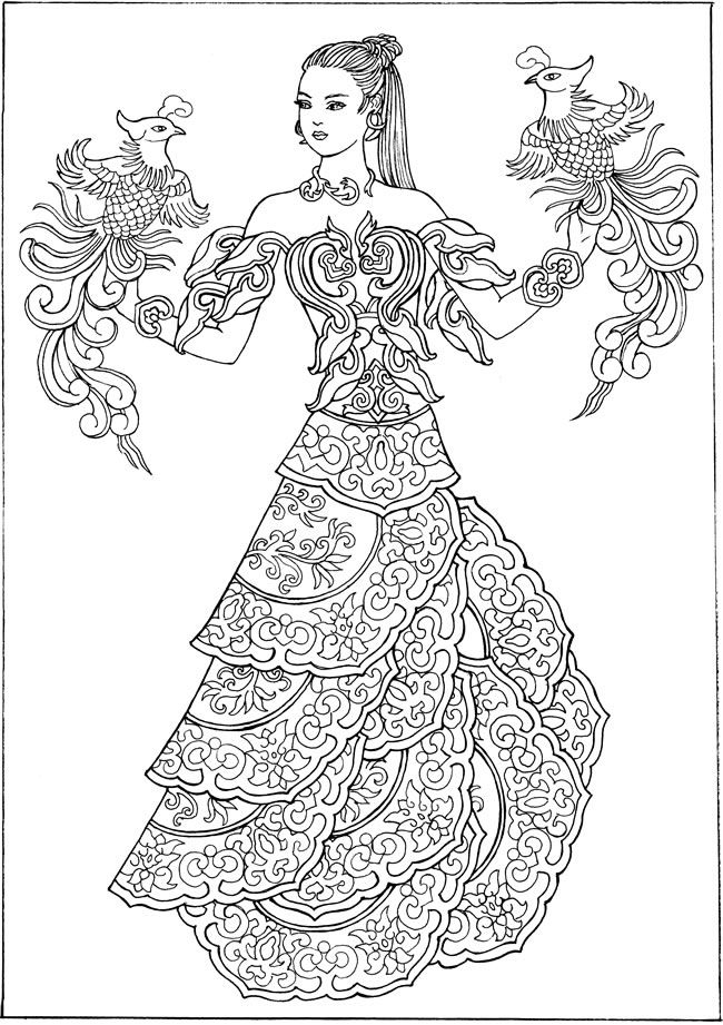 creative haven ornamental fashions coloring book welcome to dover publications