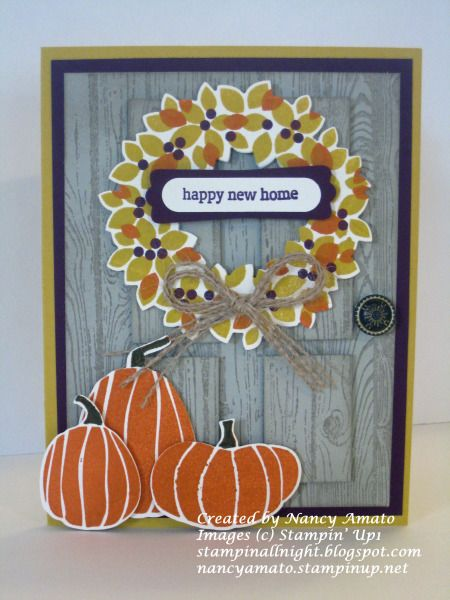 Wondrous Wreath and Fall Fest Door Card