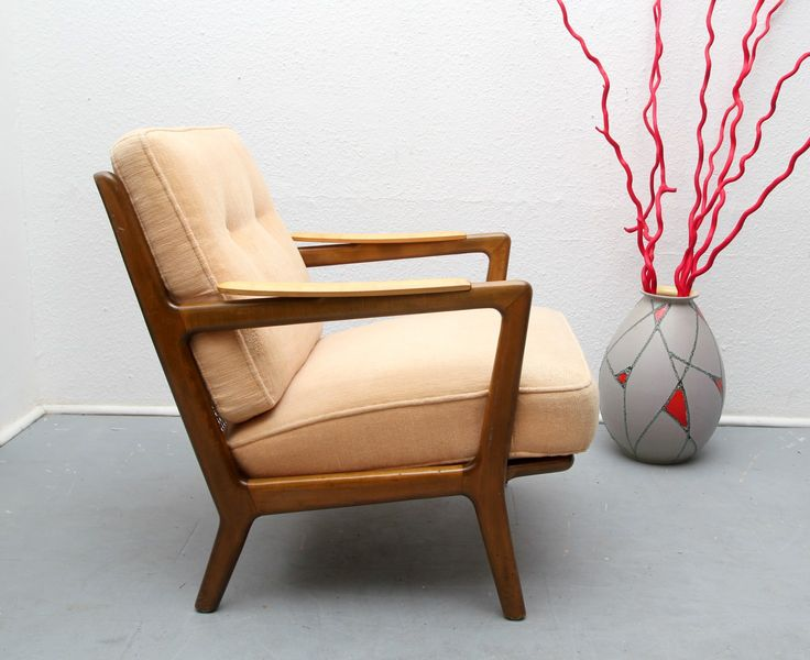 Vintage German Bicolor Wood Armchair For Shop With Global Insured Delivery  At Pamono.
